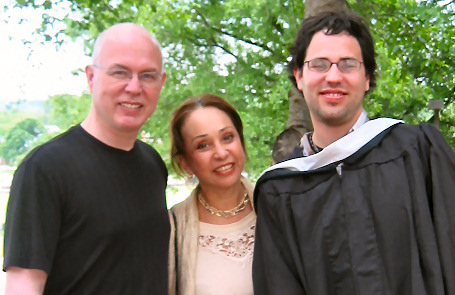Matt at his U Md graduation, with parents