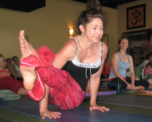 Photo of a yoga pose - upward bow