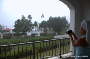 Photo: wife takes video of bad weather from balcony