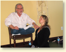 Photo: Alan Finger gives a lecture on ISHTA Yoga