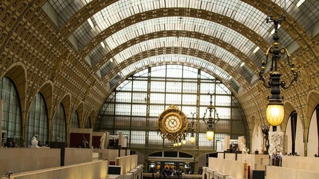 Photo: vaulted, glass roof of Orsay Museum, Paris